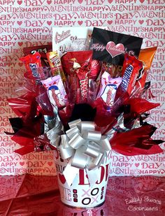 Valentine candy bouquet for him