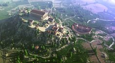 The Acropolis of Athens recreated in Minecraft.