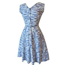 1950s nautical striped cotton day dress at Candy Says Vintage Clothing