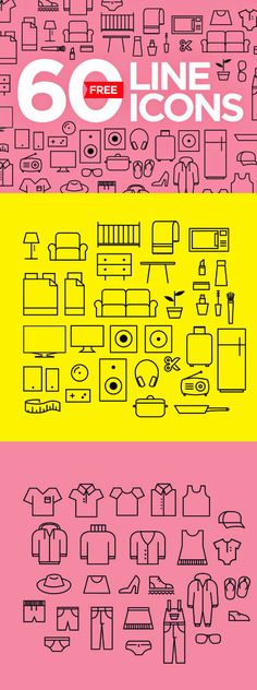 60 FREE FRESH LINE VECTOR ICONS DOWNLOAD HERE: http://freegoodiesfordesigners.blogspot.se/2015/05/60-free-fresh-icons-in-vector.html