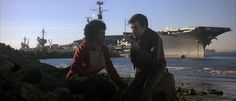 Uhura and Pavel Chekov planning to infiltrate the USS Enterprise in 1986. (Star Trek IV: The Voyage Home)