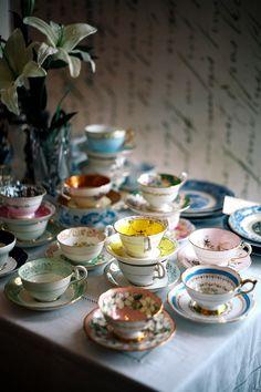 Tea cup heaven :) Haute Design by Sarah Klassen: Inspiration: Heavenly Blues