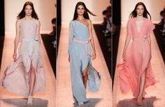 BCBG の最大アズリア ニューヨーク ロンドンファッションウィークの春夏 SS 2015 コレクション 08 を着用するには、準備ができてください。 1056