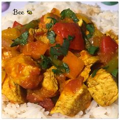 Chicken and vegetable curry, syn free and tasty