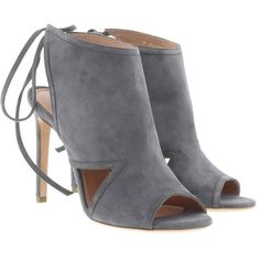Boss Lady Sandal Charcoal in grey, Sandals (785 CAD) ❤ liked on Polyvore featuring shoes, sandals, grey, boss hugo boss and boss hugo boss shoes