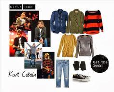 Feeling super nostalgic for the music I grew up with :) Quirky Fashion, Grunge Fashion, Fashion Wear, Fashion Outfits, Retro Outfits, Grunge Outfits, Cute Outfits, Kurt Cobain Style, Androgynous Fashion