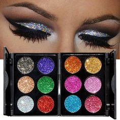 Cooperative Glitter Diamond Eyeshadow Palette Cosmetic Shimmer Makeup Kit Sexy Party Charming Eye Beauty Easy To Repair Eye Shadow