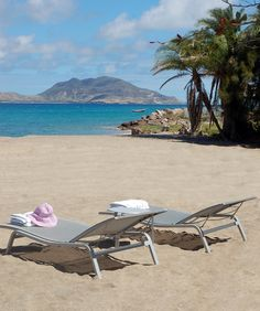 Montpelier Plantation - a Relais & Chateaux in Nevis offers a beautiful private beach. Discover more of St Kitts & Nevis on www.click2xscape.com