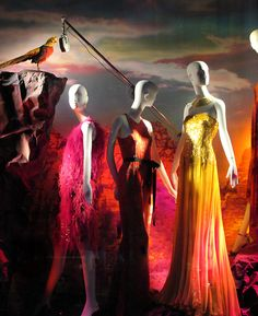 I love how these colours seem to scream at a person! LOVELY! ---> Bergdorf Goodman Fashion Week windows, New York