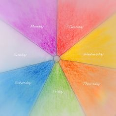 Daily Colours : Week Rhythm Colour Wheel - Free PDF-pattern download