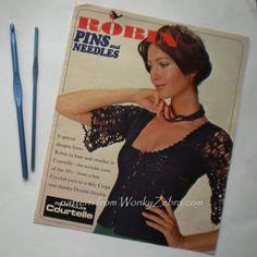 Vintage Crochet Pattern PDF 131 Evening Top from WonkyZebra