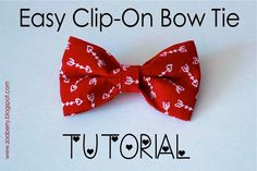 Easy Clip-On Bow Tie - TUTORIAL