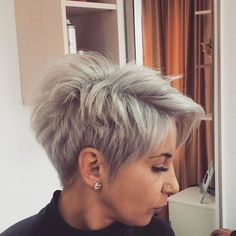 Permalink to bob hairstyles for thick hair Short Grey Hair, Short Hair Cuts, Funky Hairstyles, Short Hairstyles For Women, Hair Brained, My Hairstyle, Pixie Haircut, Great Hair, Hair Today
