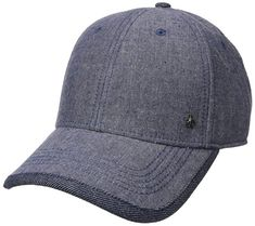 Original Penguin Men s Chambray Precurved Ball Cap  Six panel cap with pre  curved visor and small branding detail daae638f548f