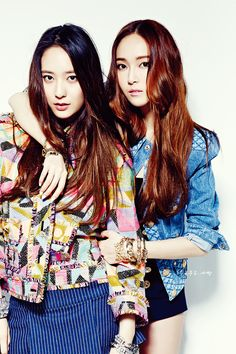 SNSD Jessica and f(x) Krystal.  (the Jung Sisters)