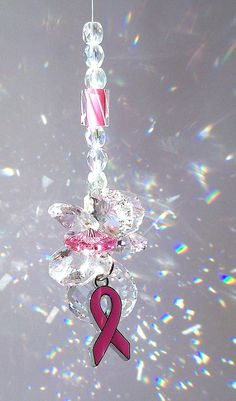 Sun Catcher Breast Cancer Awareness Month Rally for a Cure by DancingRainbows, $24.00 USD