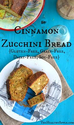 Cinnamon Zucchini Bread {Gluten-Free, Grain-Free, Dairy-Free, Soy-Free} TheHealthyApple.com #glutenfree #recipe #healthy