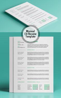 Simple Resume Cv Design Cover Letter Template  Psd MockUps