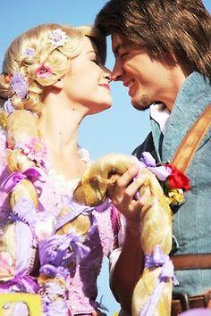 Rapunzel & Flynn at Disneyland Walt Disney, Disney Day, Disney Rapunzel, Disney Couples, Disney Love, Disney Magic, Disney Parks, Disney Pixar, Disney Princess