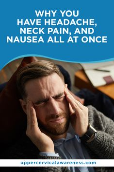There are a couple of conditions that can cause headache, neck pain, and nausea to exist at the same time. For doctors to develop a solid care plan, it is vital to give you an accurate diagnosis. Take a look at the most common conditions that trigger headache, neck pain and nausea. Tmj Headache, Throbbing Headache, Severe Headache, Headache Relief, Feeling Sick, Feel Tired, Muscle Weakness And Fatigue, Tension Migraine, Upper Cervical Chiropractic
