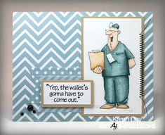 Art Impressions Rubber Stamps: Doctor Bill Set (Sku#4099) Ai People ...handmade card. get well soon, feel better