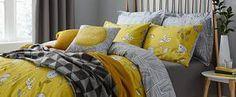 Elements Sunflower Yellow Duvet Cover and Pillowcase Set   Dunelm