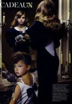 """Gifts"": Creepy Little Girls with Christmas Gifts by Sharif Hamza for Vogue Paris"