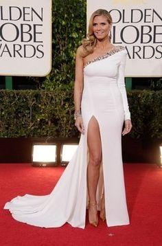 Heidi Klum. Las mejor vestidas de los Globos de Oro.