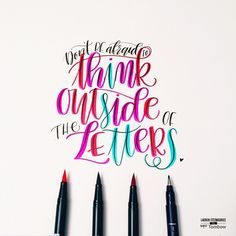1000 Images About Lettering On Pinterest Tombow Dual