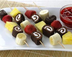 Ho Ho Fruit Kabobs | Recipes | Ho Hos | Hostess Cakes