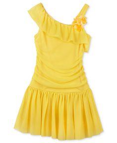 BCX Kids Dress, Little Girls One Shoulder Dress - Kids Girls Dresses - Macy's
