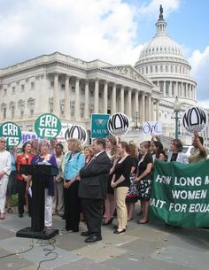 Joins the National Organization for Women, the Feminist Majority, and Rep. Maloney at a press conference for the re-introduction of the Equal Rights Amendment. The ERA would make equal rights for women a Constitutional guarantee.