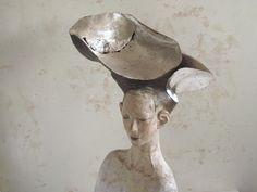 1220@DEE'S Ceramic Figures, Sculpture Clay, Clay Art, Love Art, Statue, Creative, Floral, Inspiration, Wood