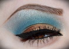 Touch of turquoise on brown eyes