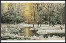 Golden Winter Lake - Cross Stitch Chart