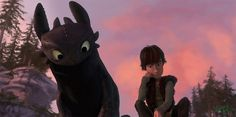 HTTYD. Toothless observing Hiccup drawing.