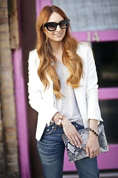 Little J Style: White Blazer from Nordstrom