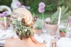 Chic bridal updo   Chris Loring Photography   see more on: http://burnettsboards.com/2015/12/roots-shoot-an-elegant-organic-farm-wedding/