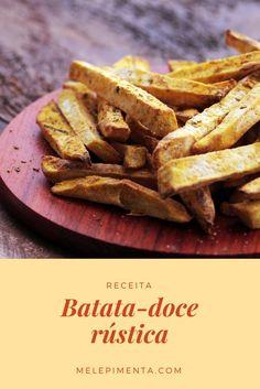 Batata-doce rústica e sem fritura, veja como preparar essa batata deliciosa para acompanhar os seu hambúrguer, lanche ou outros pratos.  Ela é feita na airfryer, mas você também pode fazer no forno.