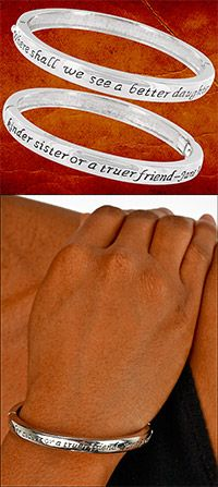 """Jane Austen Friendship Bracelet at The Breast Cancer Site """"Where shall we see a better daughter or a kinder sister or a truer friend?"""""""