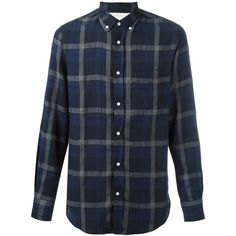 Officine Generale Japanese twill plaid shirt ($270) ❤ liked on Polyvore featuring men's fashion, men's clothing, men's shirts, men's casual shirts, shirts, men, guys, male clothes, blue and mens blue plaid shirt