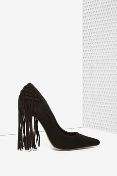 Privileged Tipsy Fringe Pump - Black | Shop Shoes at Nasty Gal!