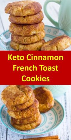 Keto Cinnamon French Toast Cookies >>> 20 Easy Low Carb Keto Cookie Source by Keto Desserts, Keto Snacks, Dessert Recipes, Cookie Recipes, Dessert Bars, Low Carb Keto, Low Carb Recipes, Diet Recipes, Dessert