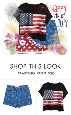 """""""Happy 4th of July!"""" by basic-disney ❤ liked on Polyvore featuring Valentino, Chicnova Fashion and Converse"""