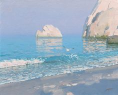 Painting by Bato Dugarzhapov. Great Paintings, Seascape Paintings, Beautiful Paintings, Landscape Paintings, Landscapes, Russian Painting, Virtual Art, Sea Art, Abstract Landscape