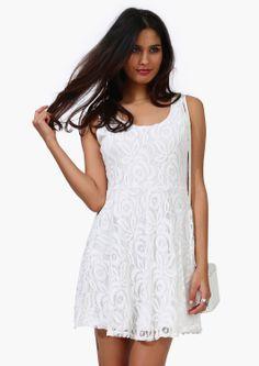 Pretty White Lace Party Dress