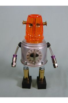 """MOMBO"" Found Object Robot Sculpture Assemblage - Made by Sally Colby - etsy."