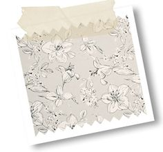Summer curtain fabric in this subtle and delicate colourway called String, features delicately detailed oriental Lillies and leaves in a hand drawn pen and ink style. Fabric Blinds, Curtain Fabric, Curtains, Trend Fabrics, Chelsea Flower Show, Roller Blinds, Fabulous Fabrics, Hand Drawn, Kitchen Ideas