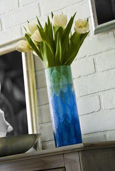 DIY ombre flower vase - a quick craft. - Mod Podge Rocks