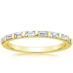 ring idea - 18K Yellow Gold Barre Diamond Ring (1/3 ct. tw.) from Brilliant Earth